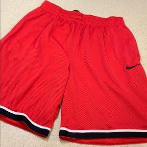 Nike mesh red shorts